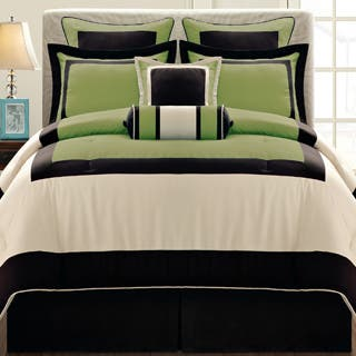 Gramercy Queen-size 12 Piece Olive Bed in a Bag with Sheet Set|https://ak1.ostkcdn.com/images/products/7310651/P14780936.jpg?impolicy=medium