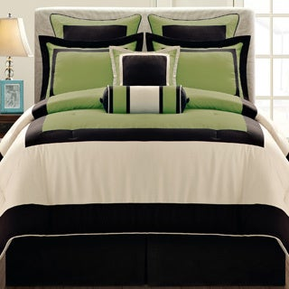 Gramercy Queen-size 12 Piece Olive Bed in a Bag with Sheet Set (2 options available)