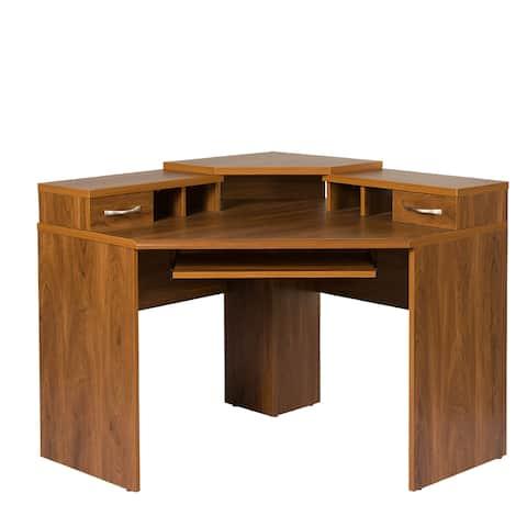Corner Desk with Monitor Platform