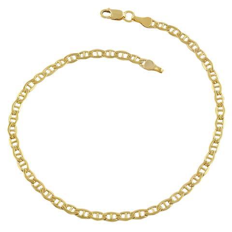 14 Karat Yellow Gold Filled 3.1mm Mariner Link (8.5 inch)