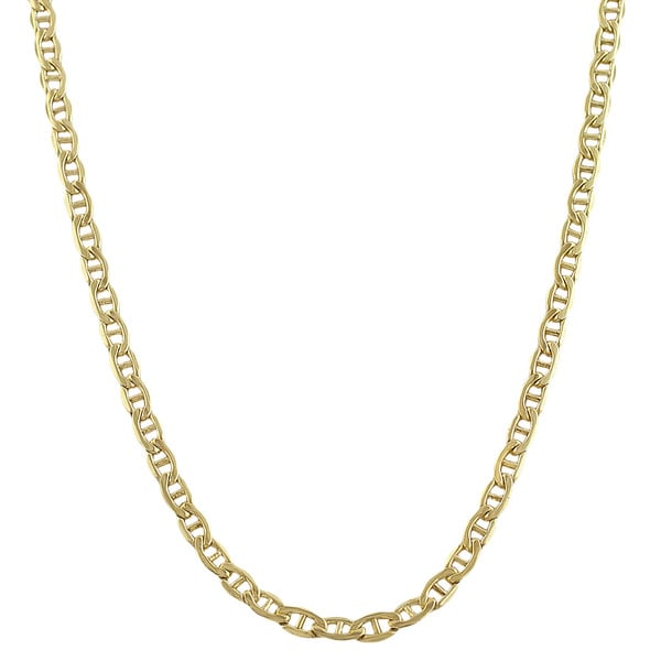 chain necklace mm yellow products men flat gold mariner women