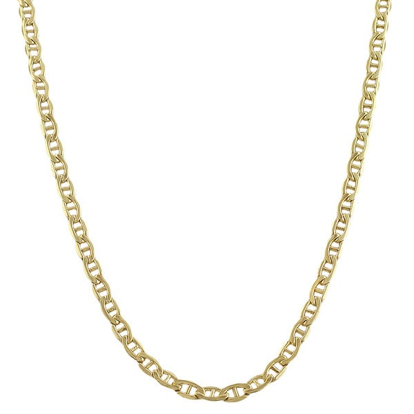 goldenmine sq p necklace mariner com chain yellow flat gold chains