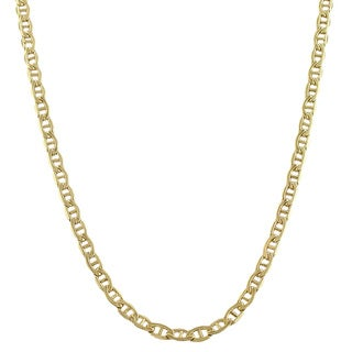 Fremada 14k Yellow Gold-filled Mariner Link Chain Necklace (18- 36 inch) (5 options available)