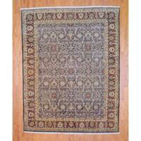 Herat Oriental Indo Hand-knotted Vegetable Dye Sarouk Wool Rug (8' x 10') - 8' x 10'