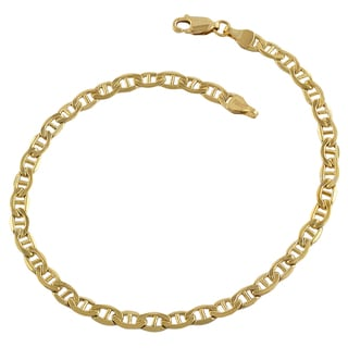 Fremada Yellow Goldtone Mariner Link Bracelet (8.5 inch)