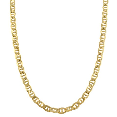Fremada 14k Yellow Gold-filled Mariner Link Chain Necklace (18-36 inch)