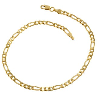 Fremada 14k Yellow Gold-filled Figaro Link Bracelet (8.5-inch)