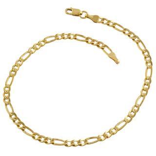 Fremada 14k Yellow Gold-filled Figaro Link Bracelet (8.5-inch)