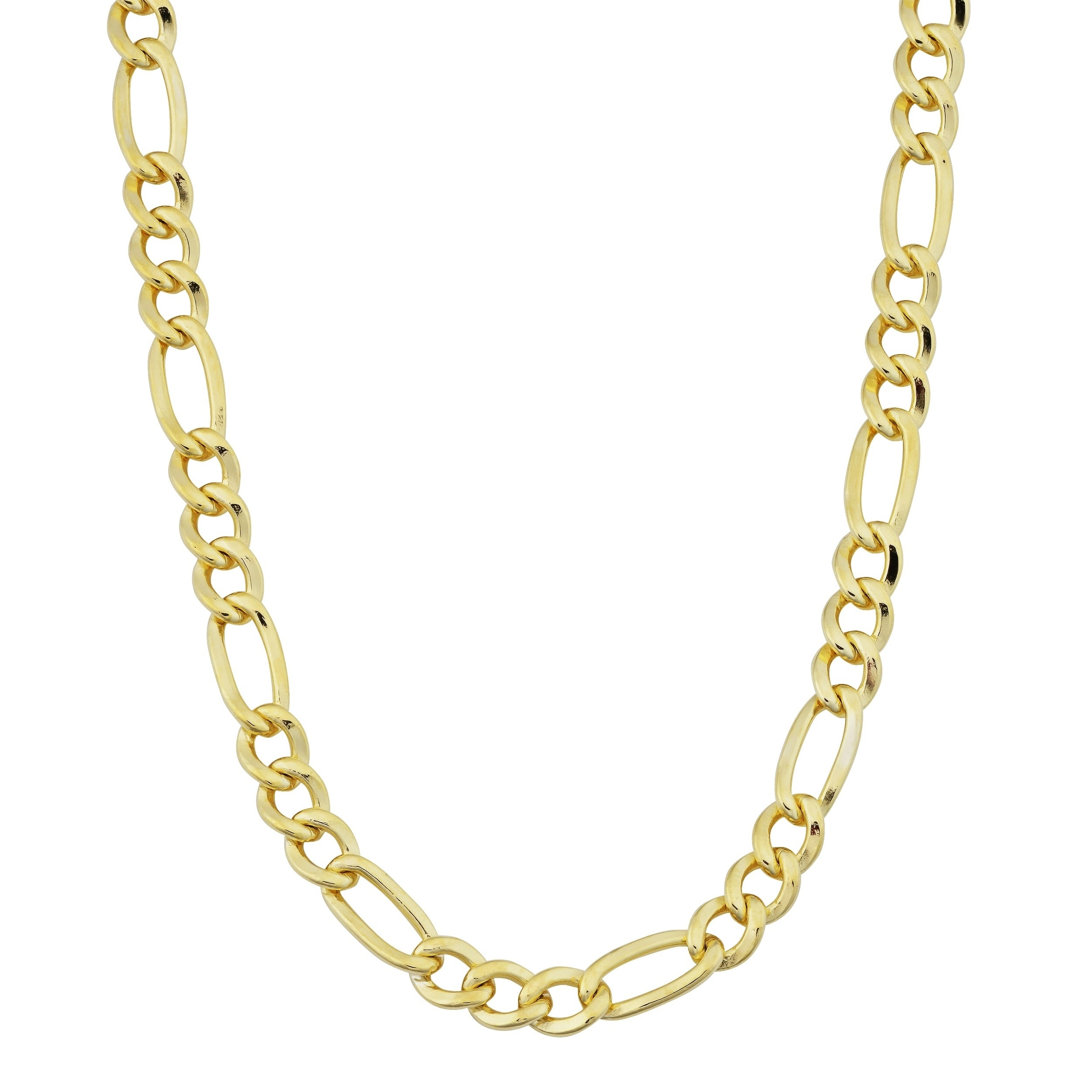 Shop 14k Yellow Gold Filled Figaro Link Chain Necklace 18 36 Inches On Sale Overstock 7310702