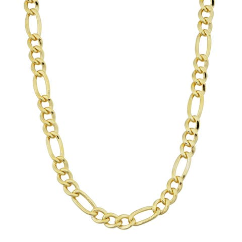 14k Yellow Gold-filled Figaro Link Chain Necklace (18-36 inches)