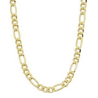 Fremada 14k Yellow Gold-filled 4.2 mm Solid Figaro Link Chain Necklace