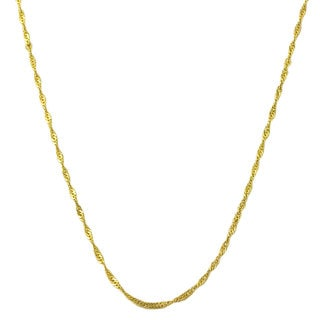 Link to Fremada 14k Yellow Gold Singapore Chain Necklace (14-30 inch) Similar Items in Necklaces
