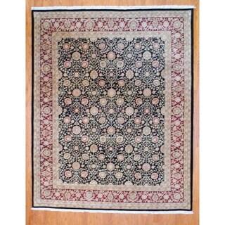 Herat Oriental Sino Hand-knotted Tabriz Wool & Silk Rug (8' x 10')
