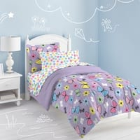 Dream Factory Sweet Butterfly 7-piece Bed in a Bag with Sheet Set