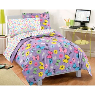 Dream Factory Sweet Butterfly 7-piece Bed in a Bag with Sheet Set (2 options available)