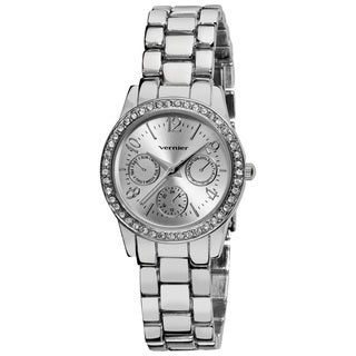 Vernier Women's Silver Feme-Fashion Faux Chrono Quartz Bracelet Watch