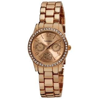 Vernier Women's Rose Feme-Fashion Faux Chrono Quartz Bracelet Watch