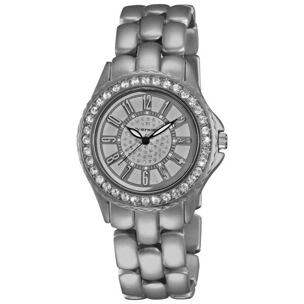 Vernier Women's Fashion Silver Soft-touch Dazzling Dial Bracelet Watch