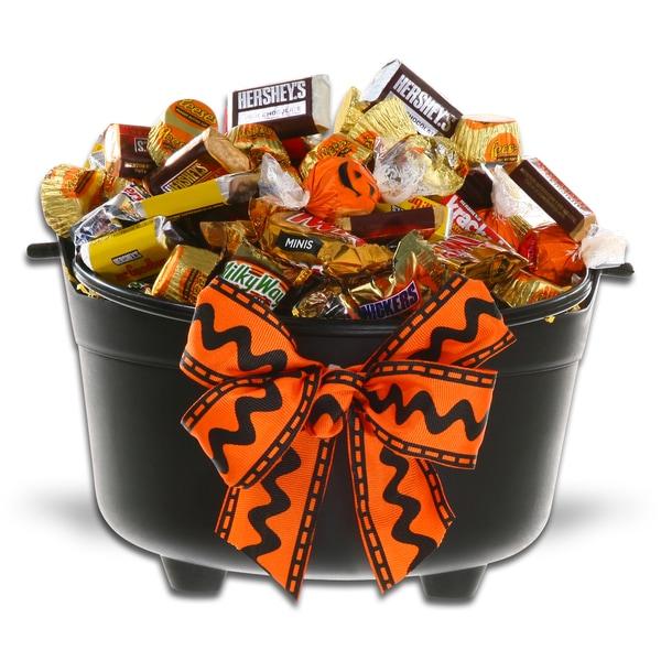 Cauldron of Chocolatey Treats Candy Basket