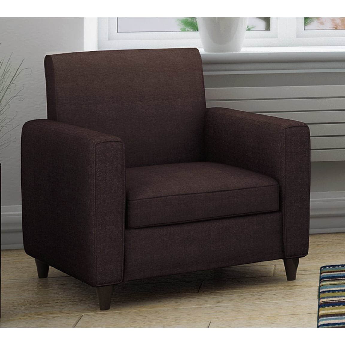 Shop Enzo Solid Colored Accent Chair Free Shipping On