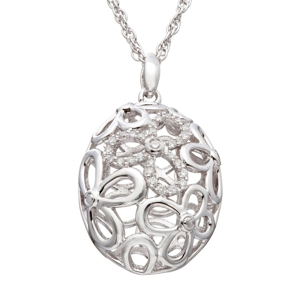 Sterling Silver 1/6 CT TDW Round Diamond Necklace (H-I I2)