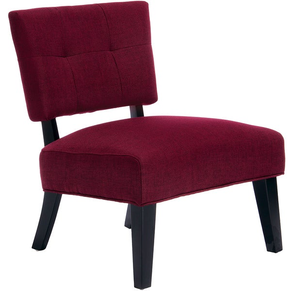 Gwen Deep Red Fabric Accent Chair by Christopher Knight Home