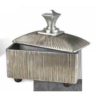Silver 12-inch High Polyresin Box