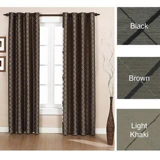 Brielle Home Argyle Grommet Lined Curtain Panel