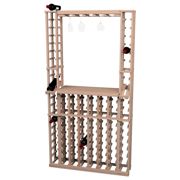 Wine Cellar Innovations Traditional Unfinished Redwood Tasting Center Wine Rack