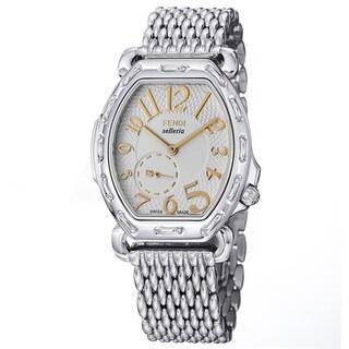 Fendi Women's F84234H-BR8153 'Selleria' White Dial Stainless Steel Tonneau Watch
