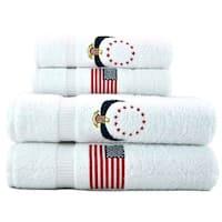 Americana Embroidered Turkish Cotton 6-piece Towel Set