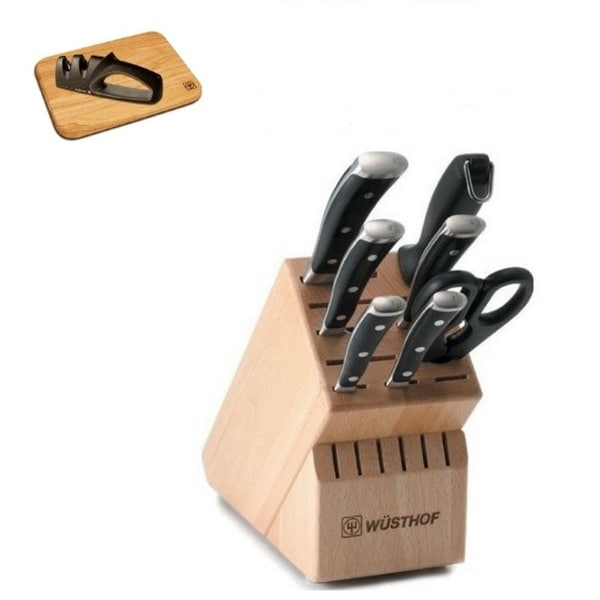 Shop Wusthof Classic Ikon 8 Piece Knife Block Set With