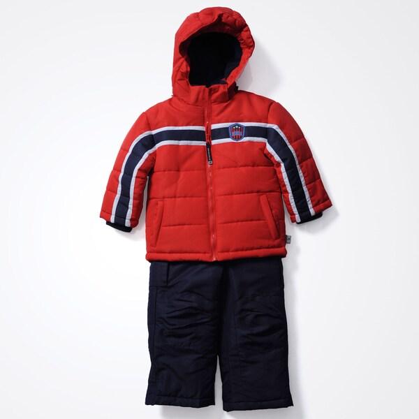 Rothschild Boys 12m-24m Badge 2pc Snowsuit