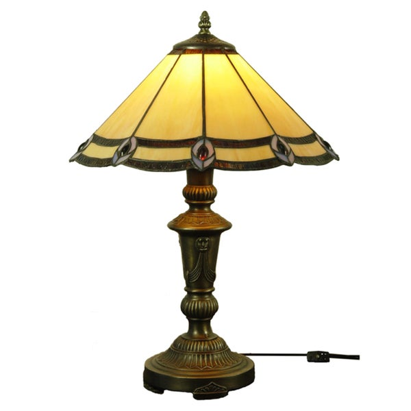 Precious Handcrafted Stained Glass Tiffany Style Table Lamp