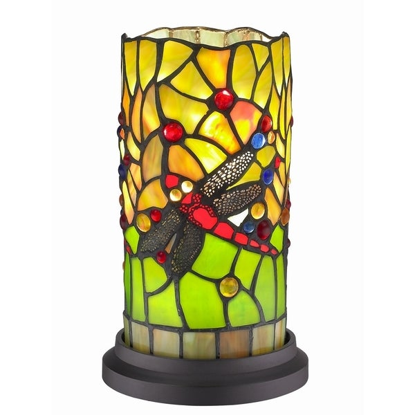 Shop dragonfly handcrafted stained glass tiffany style mini table dragonfly handcrafted stained glass tiffany style mini table lamp aloadofball Images
