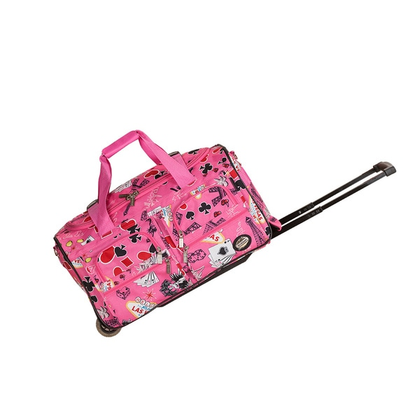 Shop Rockland Deluxe 22 Inch Pink Las Vegas Carry On