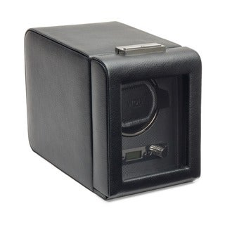 WOLF Viceroy Black Faux Leather Single Watch Winder