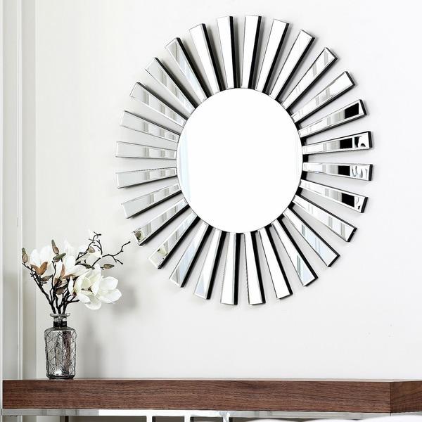 Abbyson Living Soleil Round Wall Mirror
