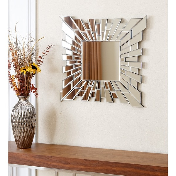 Abbyson Empire Small Square Wall Mirror Free Shipping