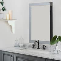 Abbyson Omni Rectangle Wall Mirror - Silver