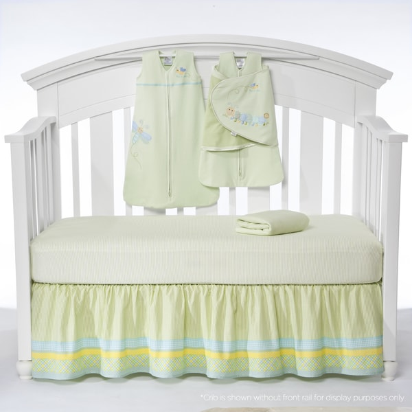 Halo SleepSack 'Friendly Caterpillar' 5-piece Bumper-free Crib Bedding Set