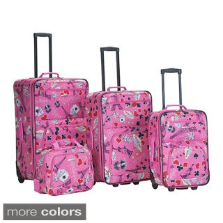 Rockland Las Vegas 4-piece Expandable Luggage Set