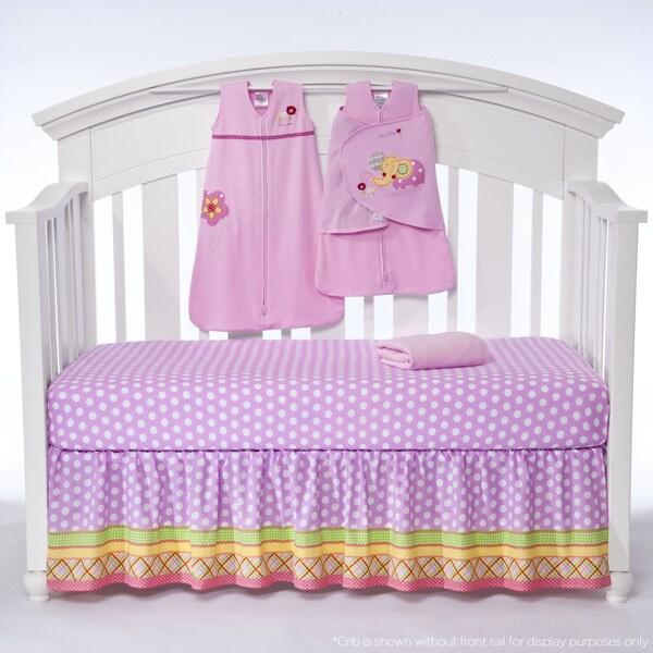 Halo SleepSack 'Jumbo's Flower Garden' 5-piece Bumper-free Crib Bedding Set