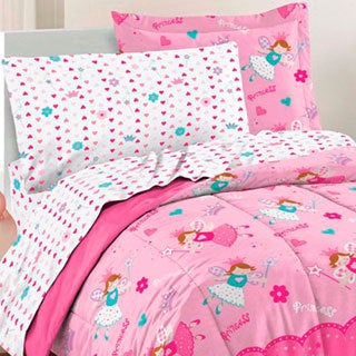 Dream Factory Magical Princess Twin 5-piece Bed in a Bag with Sheet Set