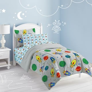 Dream Factory Space Rocket Twin-size 5-piece Bed in a Bag with Sheet Set