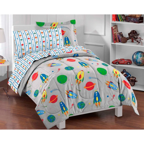 Rocket Toddler Bed dream factory space rocket twin-size 5-piece bed in a