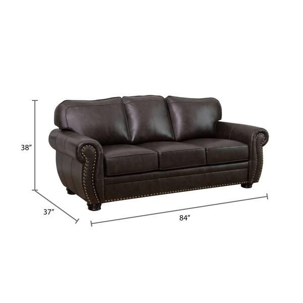 Incredible Shop Abbyson Richfield Top Grain Leather 4 Piece Living Room Machost Co Dining Chair Design Ideas Machostcouk