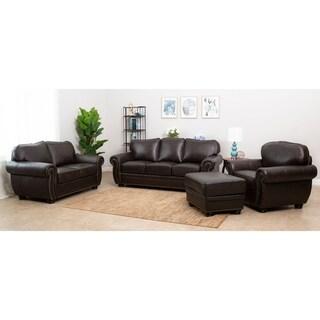 Abbyson Richfield 4-Piece Premium Top-grain Leather Sofa, Loveseat, Armchair, Ottoman Set|https://ak1.ostkcdn.com/images/products/7316054/P14785429.jpg?_ostk_perf_=percv&impolicy=medium