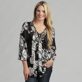 Sienna Rose Women's Black/ White Tunic Top