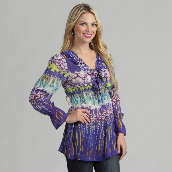 Sienna Rose Women's Abstract Tunic Top